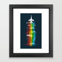 Colored Flight Framed Art Print