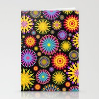 Bright And Colorful Flow… Stationery Cards