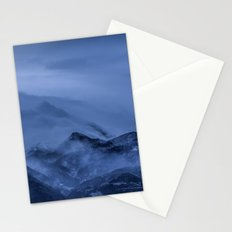 Winter magic blue mountain Stationery Cards