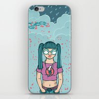 Cloud Girl iPhone & iPod Skin