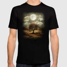 Once upon a time... The lone tree. SMALL Mens Fitted Tee Black