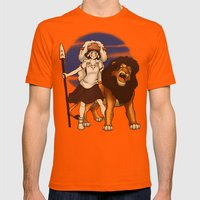 Great Kings of the Past Mens Fitted Tee Orange SMALL