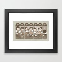 The Seven Daily Meals Framed Art Print
