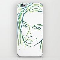 Green Portrait iPhone & iPod Skin