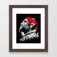 Lebron J Framed Art Print