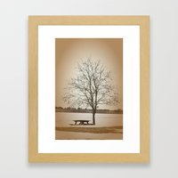 Winter Silence Framed Art Print