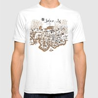 Johto Map Mens Fitted Tee White SMALL