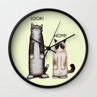 Look!-Nope Wall Clock