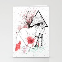 hipster Stationery Cards featuring Hipster by ArDem