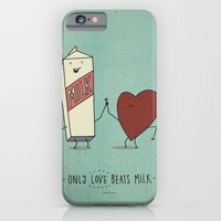 iPhone & iPod Case featuring only love beats milk by randy mckee
