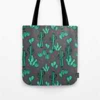 Prickly Pear - Charcoal … Tote Bag