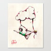 Flying Trapeze Canvas Print