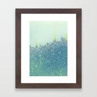 A Quiet Raft Framed Art Print