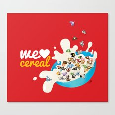 We Love Cereal Canvas Print