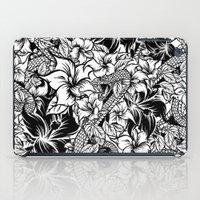 Snaky Fleur, Black 'n White iPad Case