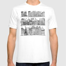 City Scape Mens Fitted Tee White SMALL