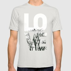 LOVE NO2 Mens Fitted Tee Silver SMALL