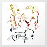 Jazzy Melody Art Print