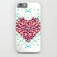 iPhone & iPod Case featuring A heart is made of bits and pieces by VessDSign