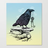 Raven's Keys Canvas Print