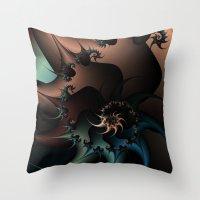Thorned Rebellion Throw Pillow