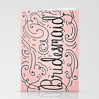 Bridesmaid, Hand-lettere… Stationery Cards