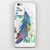 Be Free Be Wild iPhone & iPod Skin