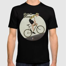 Tour De France SMALL Mens Fitted Tee Black