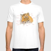 Tiger Colors Mens Fitted Tee White SMALL