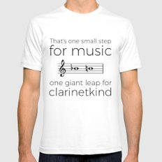 Crossing the break (clarinet) SMALL White Mens Fitted Tee