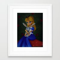 Framed Art Print featuring 'Tis Love That Makes the World Go Round. by Mickey Spectrum