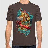 Deep Sea Diver Mens Fitted Tee Brown SMALL