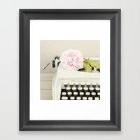 Remington and rose Framed Art Print