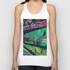 Holiday Mermaid Peacock Unisex Tank Top