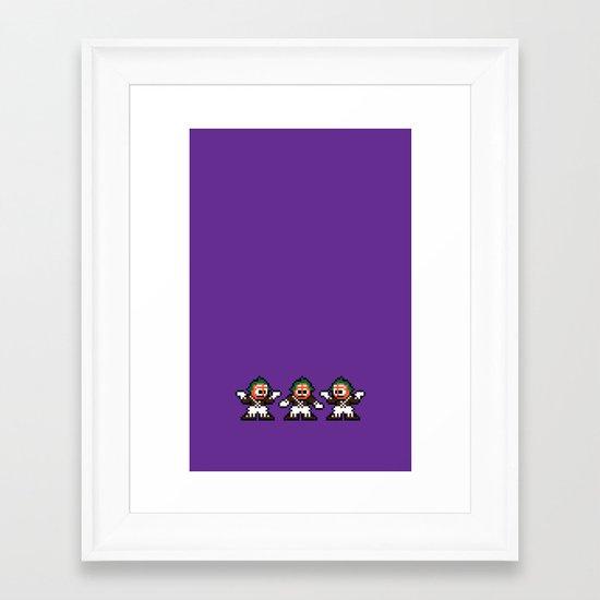 Pixelly Wonka Framed Art Print