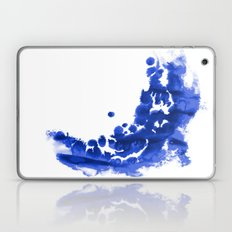 Paint 9 abstract indigo watercolor painting minimal modern canvas affordable dorm college art  Laptop & iPad Skin