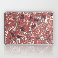 A1B2C3 coral red Laptop & iPad Skin