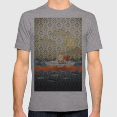 paper boat Mens Fitted Tee Athletic Grey SMALL