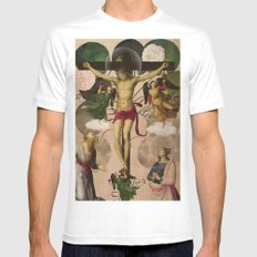 Saints Collection -- re-birth White Mens Fitted Tee SMALL