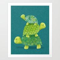 Turtle Stack Art Print