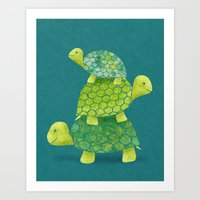 Turtle Stack Art Print