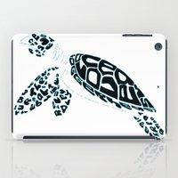 Calligram Sea Turtle iPad Case