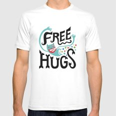 Free Hugs Mens Fitted Tee SMALL White