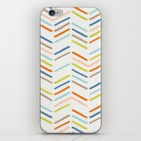 Mixed Herringbone - in Burnt Orange iPhone & iPod Skin