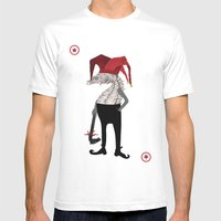 Red Joker Mens Fitted Tee White SMALL