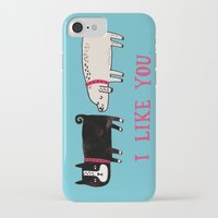 home iPhone & iPod Cases featuring I Like You. by gemma correll