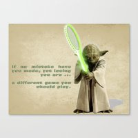 Yoda Squasher  Canvas Print