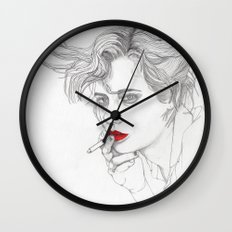 GIRL With The CIGARETTE Wall Clock