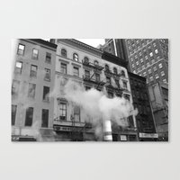NY smoke Canvas Print
