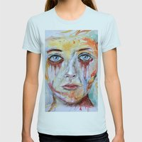 Deep Soul 11 - Hochkant … Womens Fitted Tee Light Blue SMALL